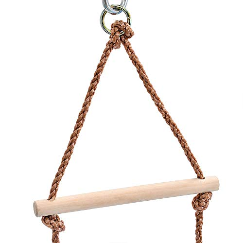 MelkTemn Climbing Rope Ladder for Kids Playground Ladder Rope Kids Ladder Climb with 5 Wooden Rungs for Climbing Frame,Tree House, Playground and Swing Accessories
