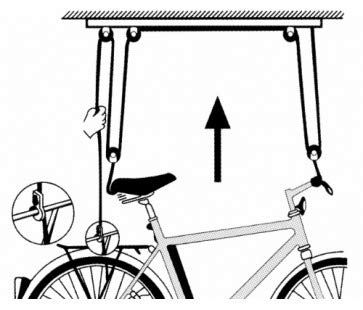 M-Wave Bike Lift Strong Fahrradlift, schwarz - 6