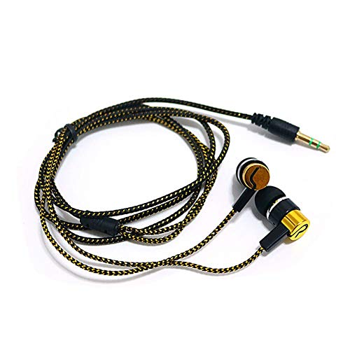 LYJCS Kopfhörer, Kabel Earbuds mit Mic & Fernbedienung, HD Stereo Bass Noise Cancelling In-Ear-Kopfhörer for Rennen, kompatibel In-Ear-Kopfhörer, High Definition Wired Kopfhörer Komfortabler Tangle Fr