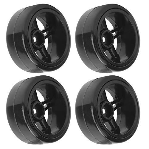 Keenso 4 PCS RC Beadlock Wheel Hub, 63 mm de diámetro RC Modification Drift Anti-Skid Neumáticos Neumático de Goma Apto para Coche D12 1/10