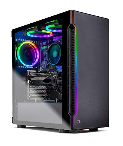 Skytech Shadow Gaming Computer PC Desktop - AMD Ryzen 3 3100, GTX 1660 6G, 16GB DDR4 3000, 1TB SSD, A520 Motherboard, 500W PSU, Black