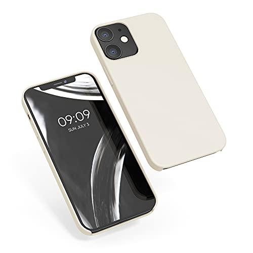 kwmobile Hülle kompatibel mit Apple iPhone 12/12 Pro - Hülle Handyhülle gummiert - Handy Hülle in Creme