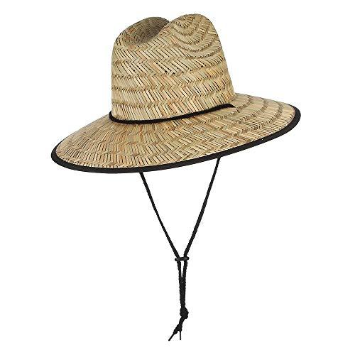 Bin Zhang 2019 Mujeres Verano de ala Ancha Sombrero de Paja Sombrero de Domo Sombrero de Sol al Aire Libre Sombrero de Salvavidas de Paja Tamaño 56-58 cm (Color : Straw, tamaño : 56-58)
