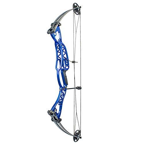 SHARROW Kit Arco Compound 40-60lbs Arco da Caccia Arco Composito e Frecce per Caccia con Arco all'aperto (Tipo 1:Blu)