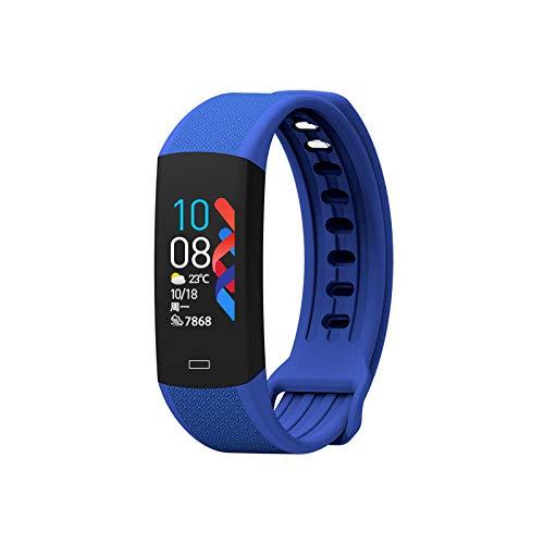 Yumanluo Reloj Inteligente Mujer Hombre,Monitorización de la Temperatura Corporal, Pulsera Inteligente de Silicona Impermeable-Azul,Pulsera de Actividad Inteligente Reloj Deportivo