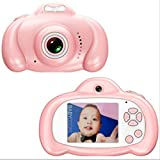 Toys Camera Mini 2.0 Pulgadas HD IPS Screen Niños Cámara para niños 1080P Video Recorder Flash Photo 12MP Videocámara para niños Regalo sin Tarjeta Rosa