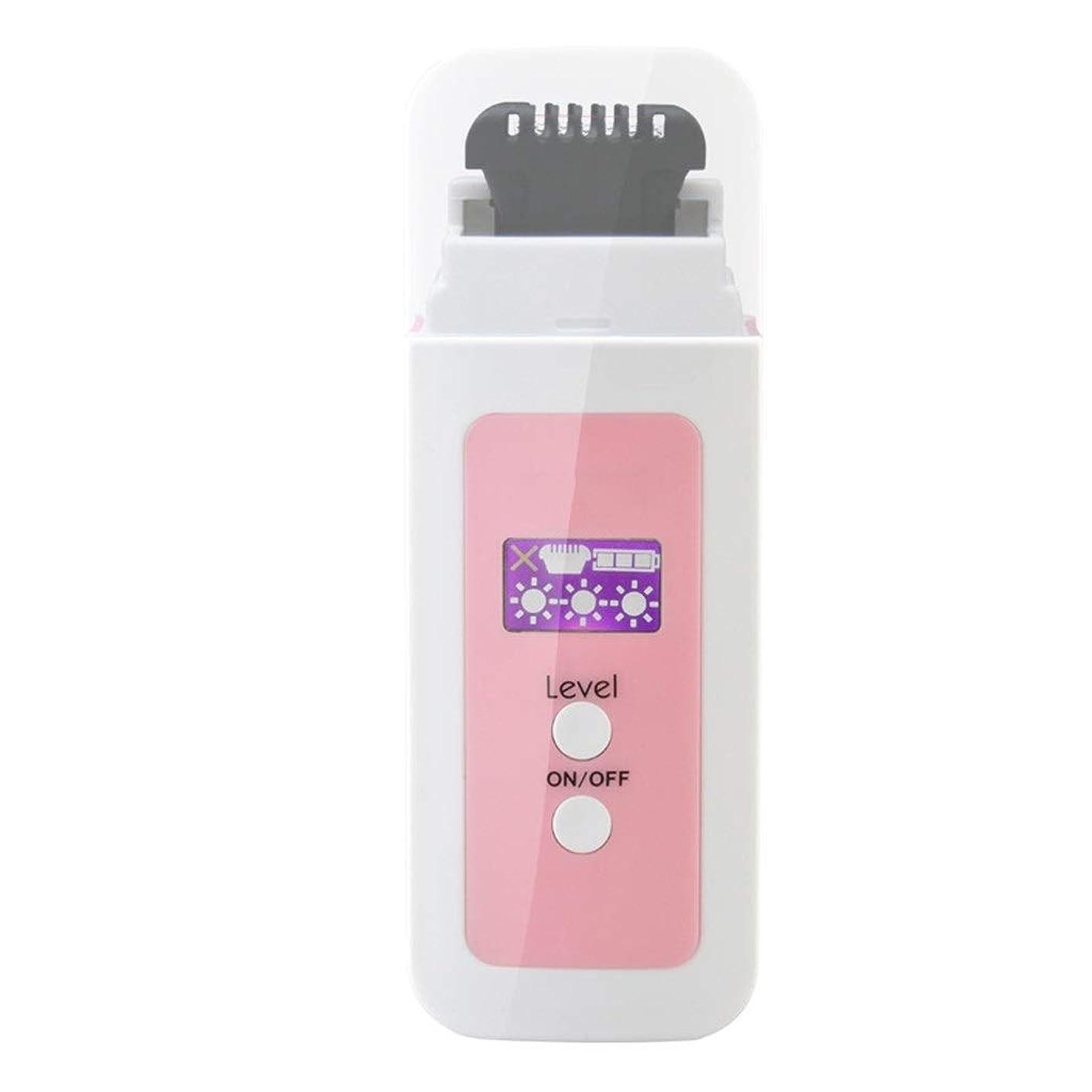ビルダー抵当帽子パーソナルケア製品/女性の電気脱毛器、ポータブル充電式痛みのない熱脱毛ミニは、脇の下の余分な髪と体の下の余分な髪を削除します (Color : Pink)