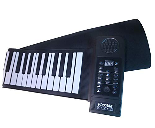 Find Bargain PN61S 61-key hand roll Thick keyboard musical instrument toy 61 keys USB flexible elect...