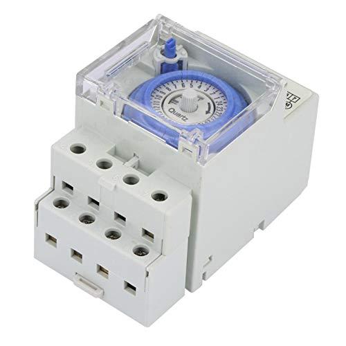 LANTRO JS - Interruptor temporizador digital SUL181H, temporizador mecánico analógico manual/automático de 110-230 V 24 horas Interruptor de tiempo del controlador automático