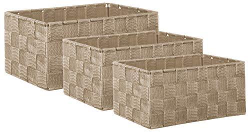 Brandsseller Aufbewahrungsbox Dekobox - Rattan-Optik - 3er-Set beige
