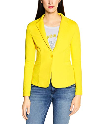 STREET ONE Damen Hanni Lässiger Business-Blazer, shiny yellow, 44