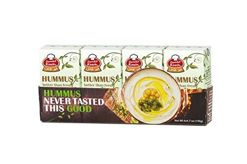 Kasih Hummus 135g (Confezione da 48) Vegano Ceci & Tahini Tuffo