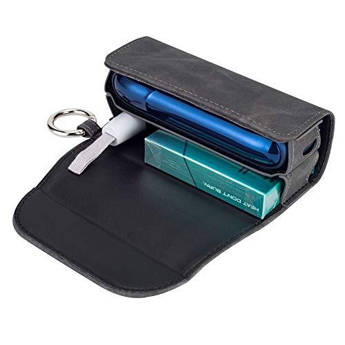 DrafTor - Funda para cigarrillo electrónico 3.0 clip o hebilla (solo monedero), color gris