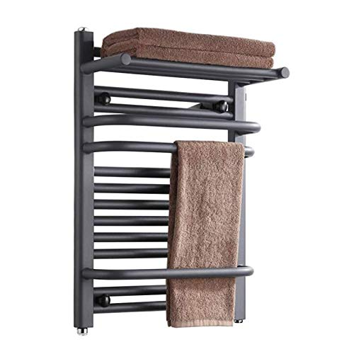 ZXCV Secador De Toallas Calefacción Eléctrica Rack Secado Towel Rack Smart Simple Home Creative Baño 650 * 450mm / 800 * 500mm (Color : 800 * 500MM, Size : A)