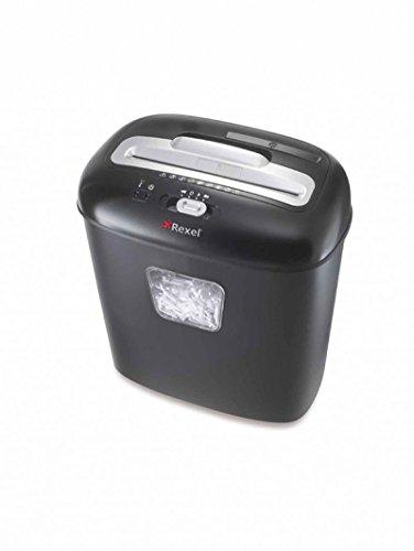 Rexel Duo 2102560EU Aktenvernichter (für Zuhause/Kleinbüros, Partikelschnitt, Manueller Einzug, 17L Abfallbehälter, 10 Blatt Kapazität) schwarz