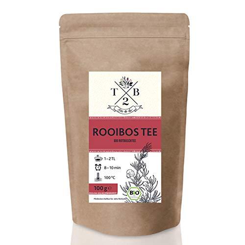 Bio Rooibos – Rotbusch Tee lose – fruchtig und aromatisch. |(ca. 40 Tassen) Tea2Be by Sarenius - 100g