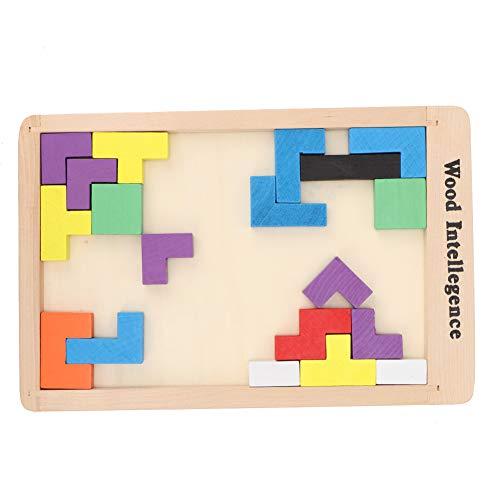 Quebra-cabeça de brinquedo de madeira durável para crianças crianças