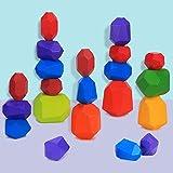 Juguetes de Apilamiento de Madera Piedras de Madera de Colores Equilibrio y...