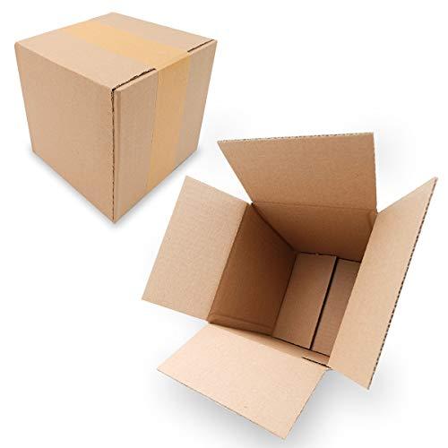 25 Faltkartons 155x155x160mm braun KK 06 1 wellig quadratisch Versandkarton kubisch für kleine Waren | XS Päckchen | DPD XS | GLS XS | kleine Kartons