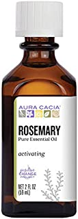Aura Cacia Rosemary Essential Oil | GC/MS Tested for Purity | 60ml (2 fl. oz.)