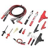 DULALA Kits de Cables de Prueba con Pinzas de cocodrilo Puntas de sonda reemplazables Set P1300D Multímetro Digital electrónico Cables de Prueba