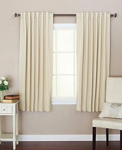 Cozy Beddings Thermo-Vorhang, Beige, einfarbig, 52 x 63 l, 2 Paneele