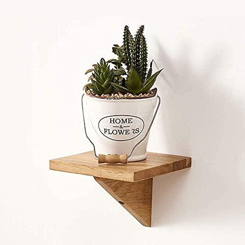DGDF Estantería flotante de madera de roble macizo para dormitorio, sala de estar, baño, oficina, cocina