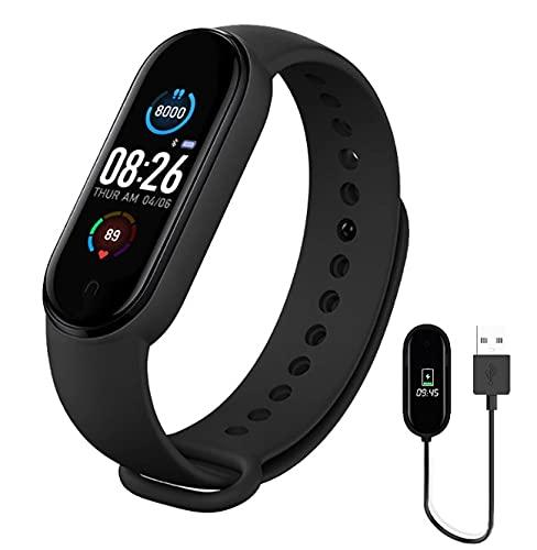 Banda Inteligente Hombres Mujeres Reloj Inteligente Ritmo Cardíaco Presión Arterial Monitor De Sueño Podómetro Conexión Bluetooth