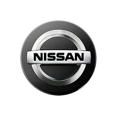 HBKJ 4 Stück Radnabenkappen Nabendeckel, für Nissan Juke Note Micra Qashqai 60mm Radnabenabdeckung Mit Logo Auto Felgendeckel Zubehör