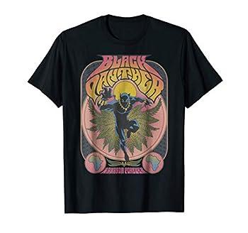 Marvel Black Panther Vintage 70 s Poster Style T-Shirt