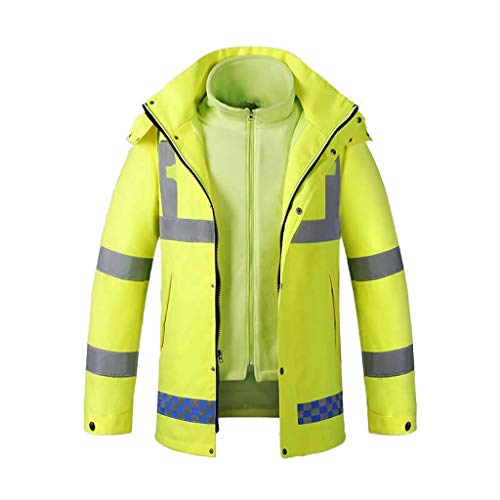 Veiligheidsvesten winter katoenen pak Traffic Patrol reflecterende veiligheidskleding fluorescerende gele regenjas warme weerbestendige winterkleding veiligheidstechniek