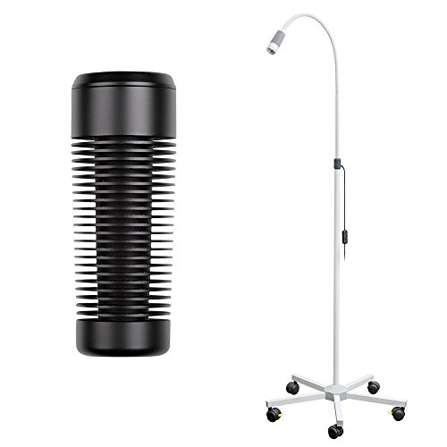 LED Untersuchungsleuchte, Lampe, Stehlampe, energiesparend, Rollstativ, schwarz