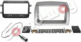 Kit de montaje Marco para radio adaptador autoradio para LANCIA Y YPSILON 2006 - 2011 gris claro 2 DIN