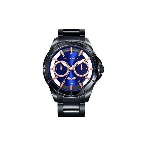 Viceroy Reloj Analógico para Hombre de Cuarzo con Correa en Acero Inoxidable 401053-37