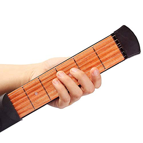 Fliyeong Akustische Gitarre Übungswerkzeug Tragbare Holz Gitarre Finger Praxis Tasche Gitarre für Anfänger 1 Stücke