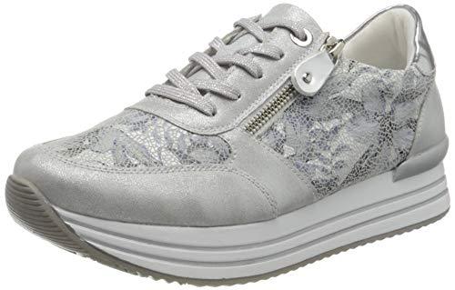 Remonte D1300, Zapatillas Mujer, Ice Azul Blanco Argento 90, 43 EU