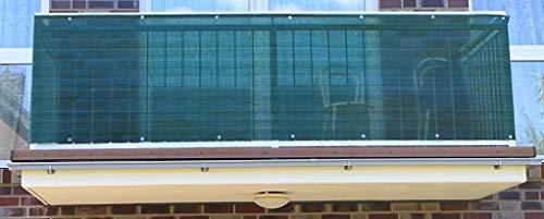 S&D Smart Deko 900x90cm Dunkelgrün Balkonsichtschutz, Balkonverkleidung, Windschutz, Sichtschutz und UV-Schutz für Balkon, Gartenanlagen, Camping und Freizeit (900x90cm)