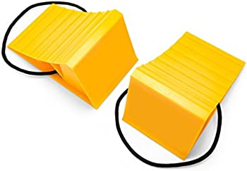 2-Pack Camco Wheel Chock With Rope for Easy Removal