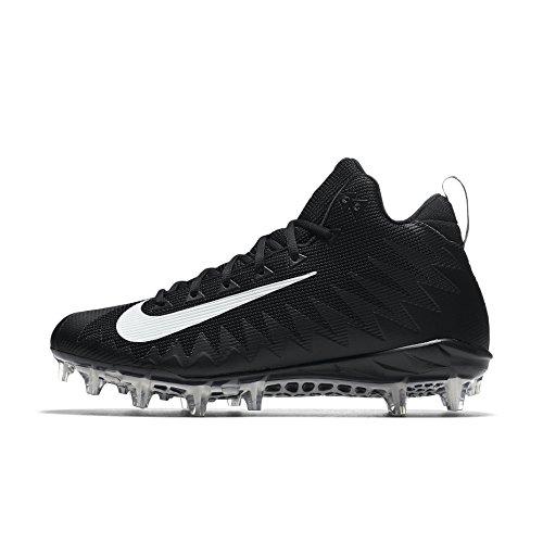 Nike Men's Alpha Menace Pro Mid Football Cleat Black/White Size 12 M US