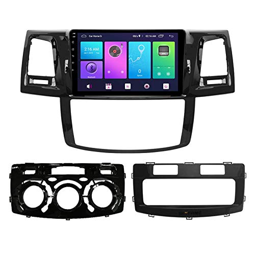 Android 10.0 Car Stereo Double Din Compatible con Toyota Compatible con TUNER HILUX VIGO 2007-2015 Navegación GPS Unidad principal de 9 pulgadas Reproductor multimedia MP5 Receptor de video y radio c