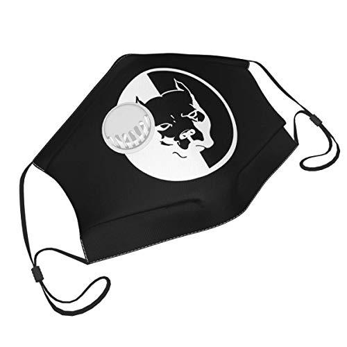 Wiederverwendbare Staubgesichtsabdeckung mit einem Ventil Unisex verstellbare Gesichtsabdeckung American Bully Dog Sketch USA