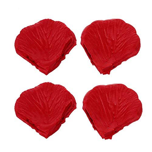 400 piezas de pétalos de rosa secos, pétalos de rosa de flor roja natural, uso para bodas, fiestas, día de San Valentín u otras festividades