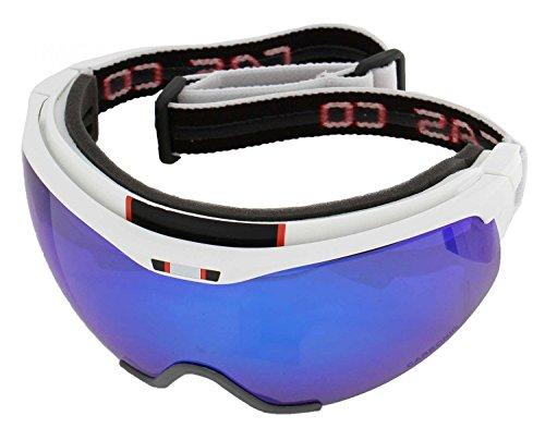Casco Langlauf Brille Spirit Carbonic, weiß-blau, inkl. Hardcase, Sacchetto und Wechselscheibe, Gr. L