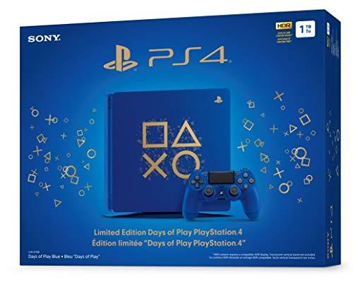 Playstation 4 Slim 1 To SSD Édition limitée Jours de jeu Console bleue avec contrôleur Bundle amélioré avec disque SSD rapide