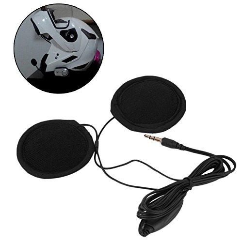 Hensych altavoces estéreo y auriculares para casco de motocicleta, 3,5mm, con Control de volumen, para MP3 CD XM Radio GPS teléfono y música