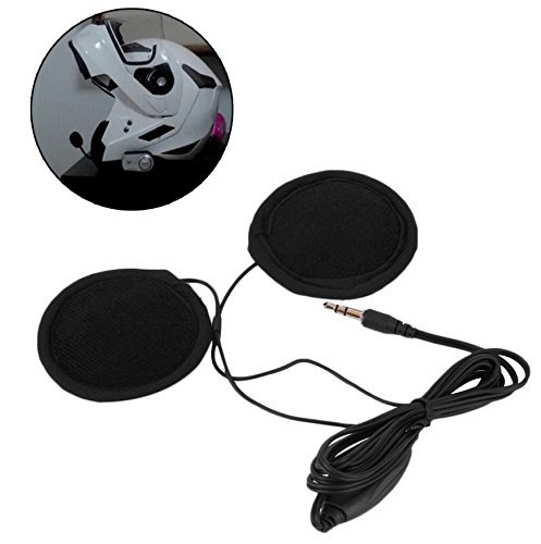 Hensych® altavoces estéreo y auriculares para casco de motocicleta, 3,5mm, con Control de volumen, para MP3CD XM Radio iPod GPS teléfono y música