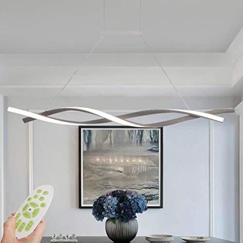 Hanglamp, dimbaar, met afstandsbediening, creatief design, moderne spiraalvorm, eettafel, woonkamer, kantoorverlichting