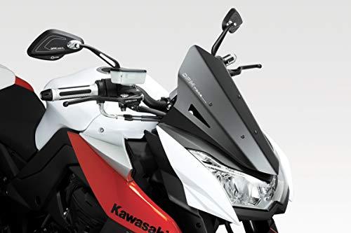Z1000 2010/12 - Windschutzscheibe 'Warrior' (R-0617) - Aluminium Windschild Windabweiser Scheibe - Hardware-Bolzen Enthalten - Motorradzubehör De Pretto Moto (DPM Race) - 100% Made in Italy