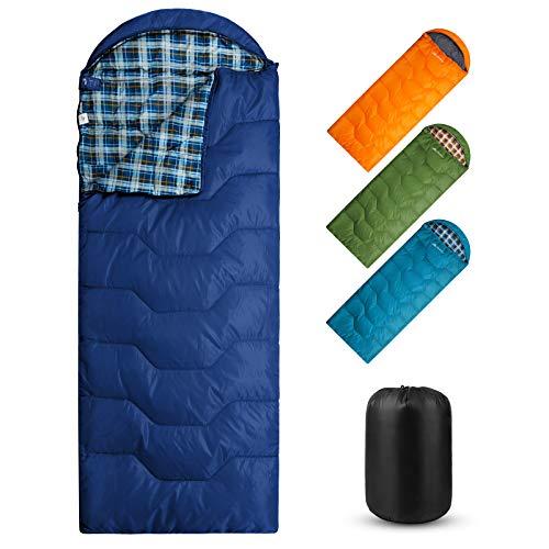 Forceatt Schlafsack Outdoor 3-4 Jahreszeiten, Wasserdichter Leichter Deckenschlafsack für Camping, Ideal für Erwachsene und Jugend Schlafsack - 215 x 80 cm-Wasserdichter-Leicht-Warm-Atmungsaktiv.