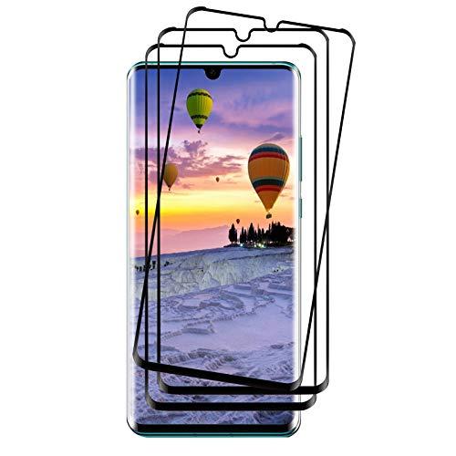 Whew Panzerglas Folie kompatibel Huawei P30 Pro Schutzfolie, [3 Stück] 3D Voller Displayschutz, 9H Härte Panzerglasfolie, Hohe Qualität Gehärtetem Glass HD Displayschutzfolie für Huawei P30 Pro